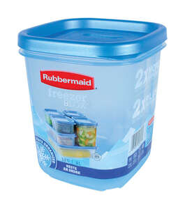 Rubbermaid  Freezer Blox  3.8 cups Food Storage Container