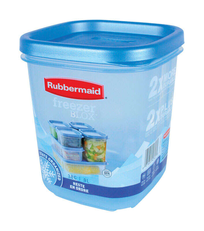 Rubbermaid Freezer Blox 38 cups Food Storage Container Ace Hardware