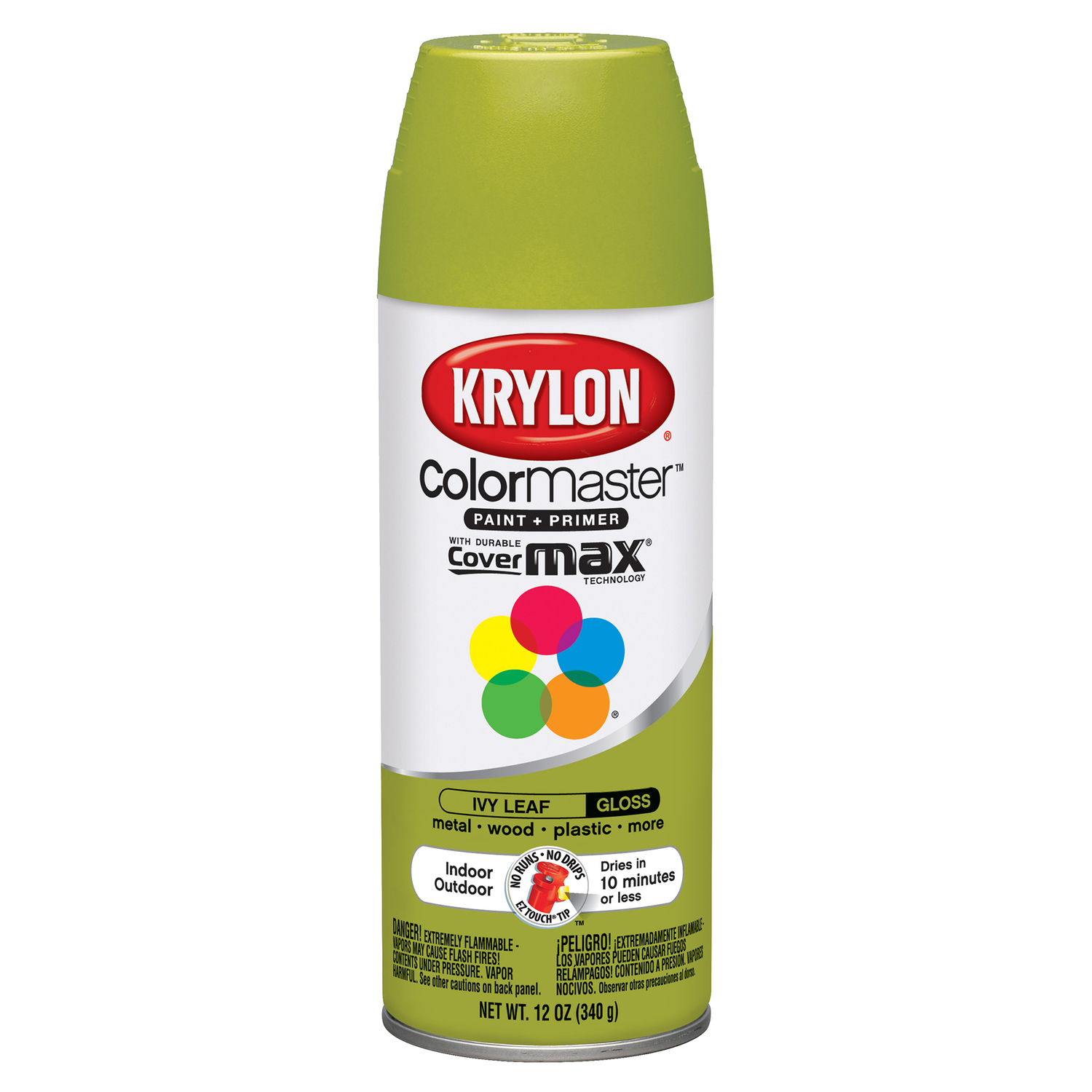 Krylon  Gloss  Ivy Leaf  12 oz. Smooth and Durable Paint Spray