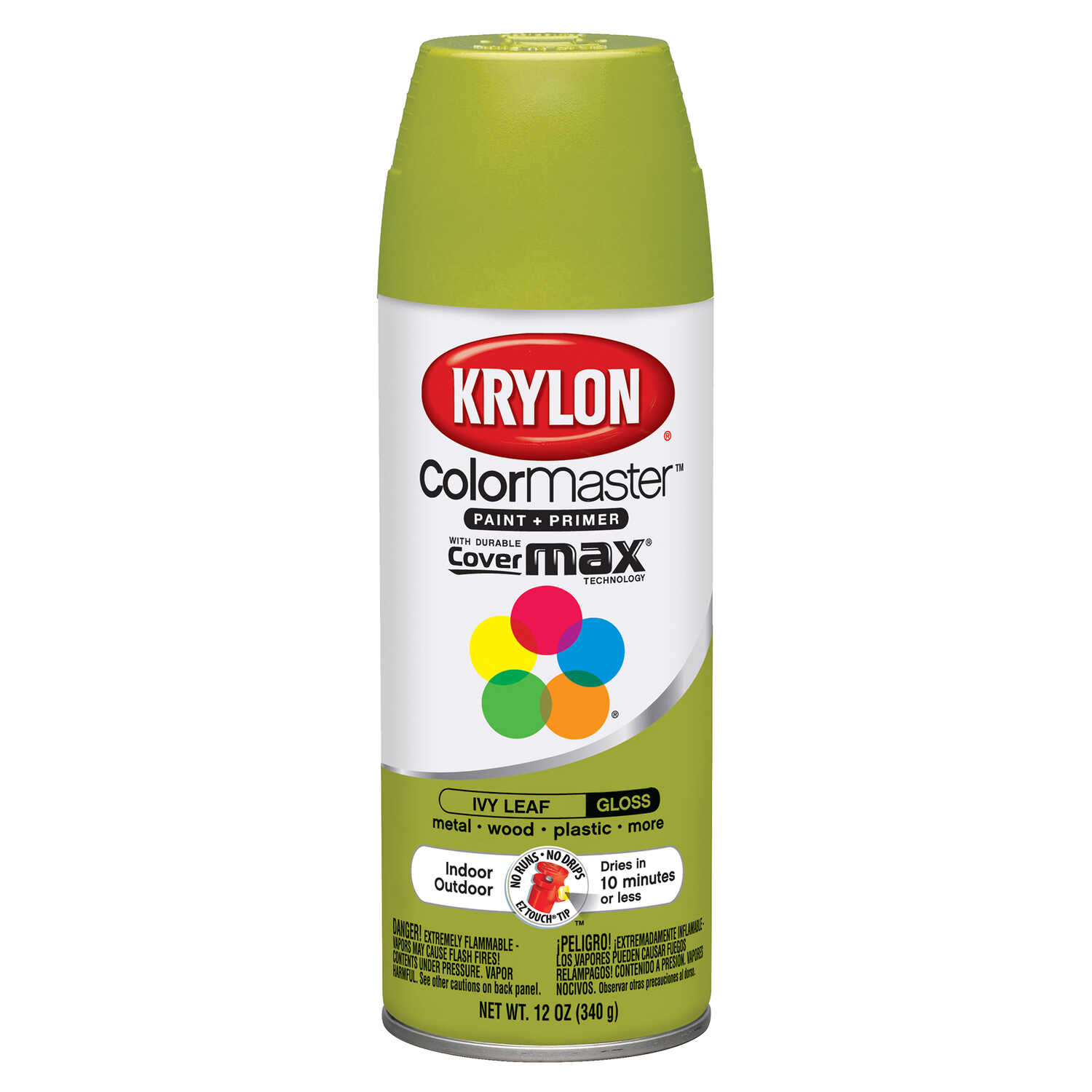 Krylon  ColorMaster  Gloss  Ivy Leaf  12 oz. Spray Paint