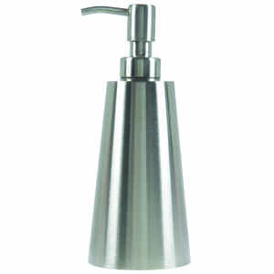 InterDesign  Nogu  Soap Dispenser  7.8 in. H x 3.3 in. W x 3.3 in. L Silver  Stainless steel