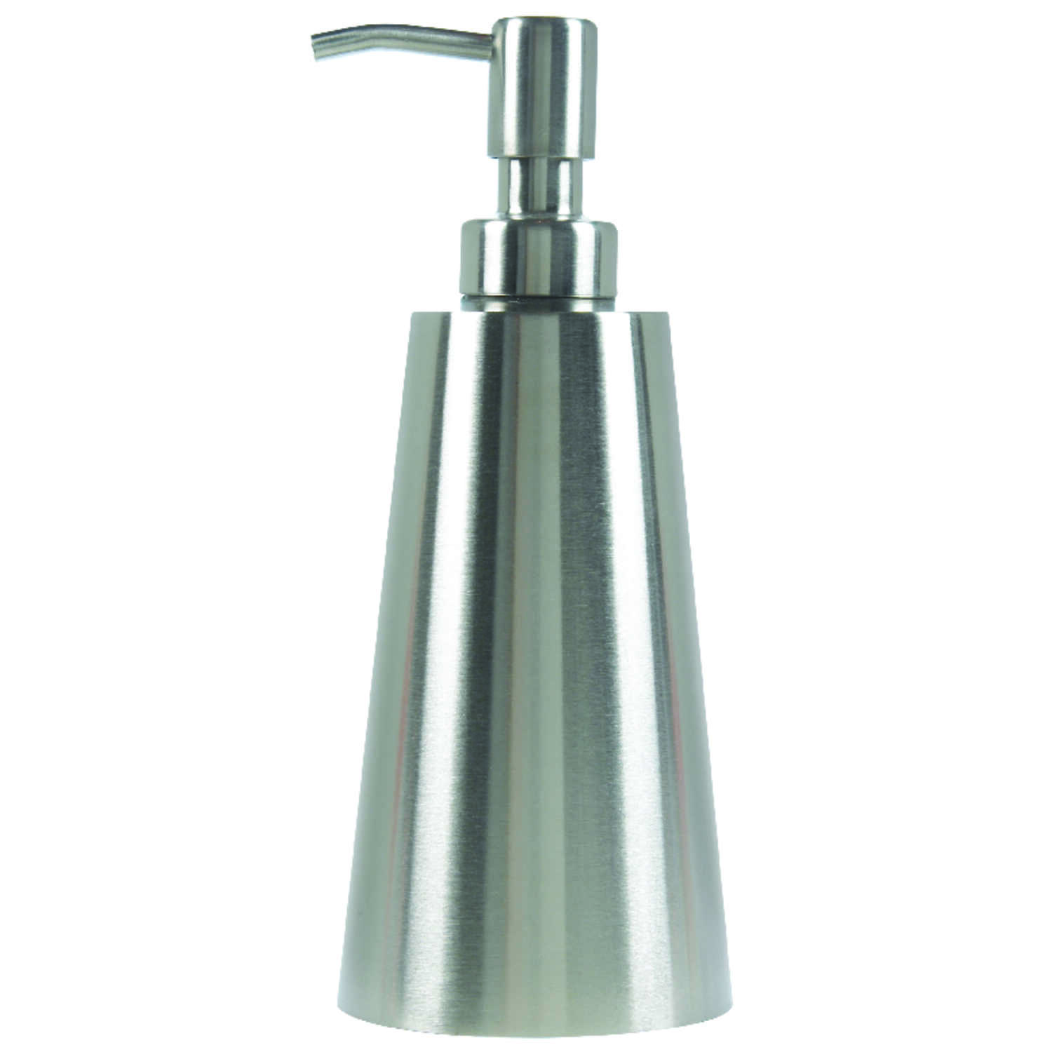 InterDesign  Nogu  Soap Dispenser  7.8 in. H x 3.3 in. W x 3.3 in. L Stainless Steel  Silver  Stainl