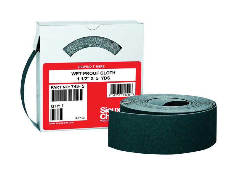 Sioux Chief  180 in. L x 1-1/2 in. W 120 Grit Medium  Abrasive Mesh  Sandpaper  1 pk