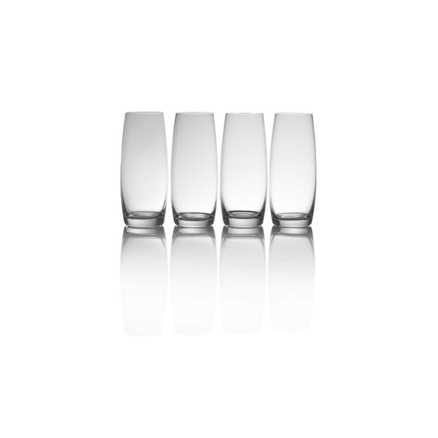 Mikasa  9 oz. Clear  Stemless Champagne Flutes  Crystal