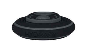 Hydaway  Black  Silicone  Collapsible  Water Bottle  BPA Free 21 oz.