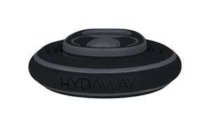 Hydaway  Black  Silicone  Water Bottle  BPA Free 21 oz. Collapsible