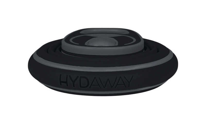 Hydaway  Black  Silicone  Collapsible  BPA Free 21 oz. Water Bottle