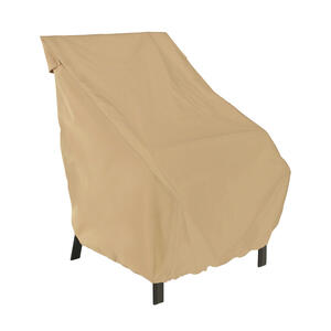 Classic Accessories  34 in. H x 32.5 in. W x 25.5 in. L Brown  Polyester  High Back Chair Cover