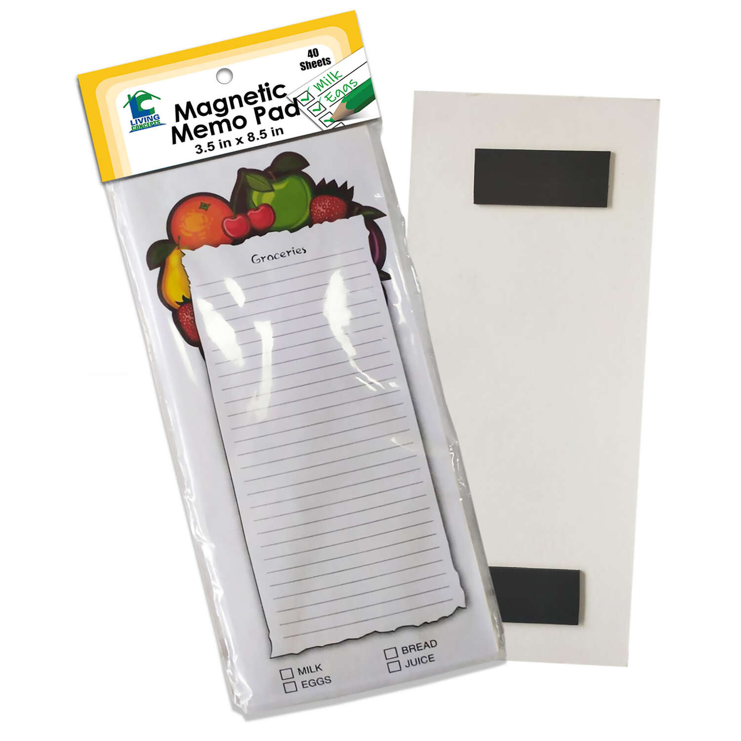 Living Concepts  Magnetic  Memo Pad  1 pk