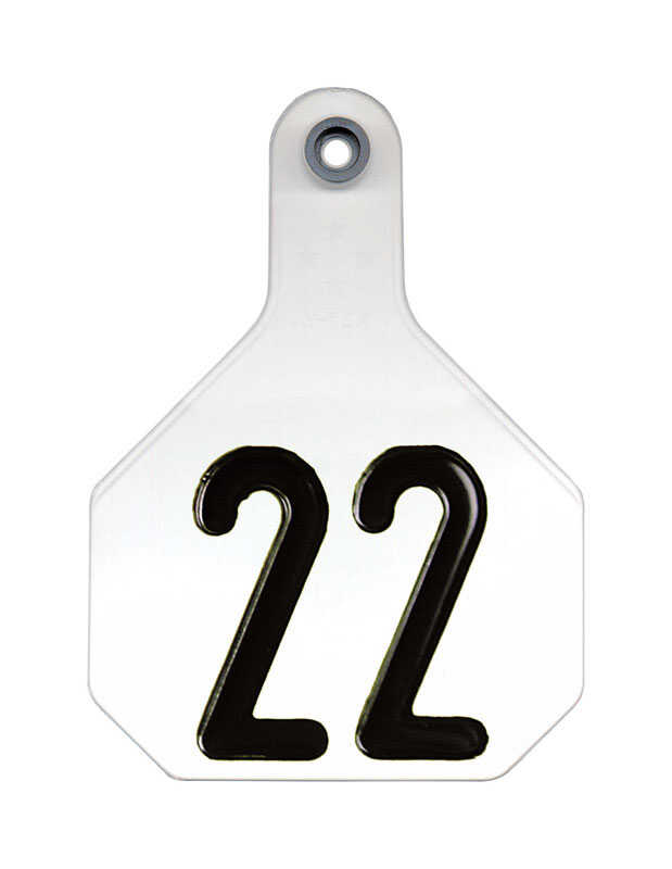 Y-Tex  Large Numbered  Plastic  2-Piece Ear Tag