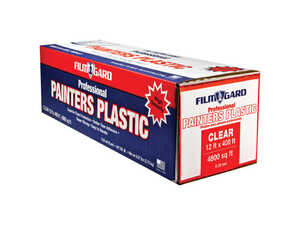 Film-Gard  Light Weight  Plastic  Painter's Plastic  12 ft. W x 400 ft. L