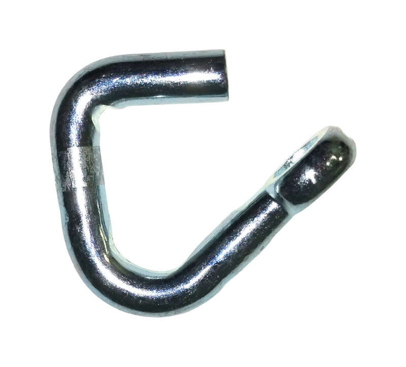 Baron  Large  Zinc-Plated  Silver  Steel  1/4 in. L Hook  600 lb. 1 pk