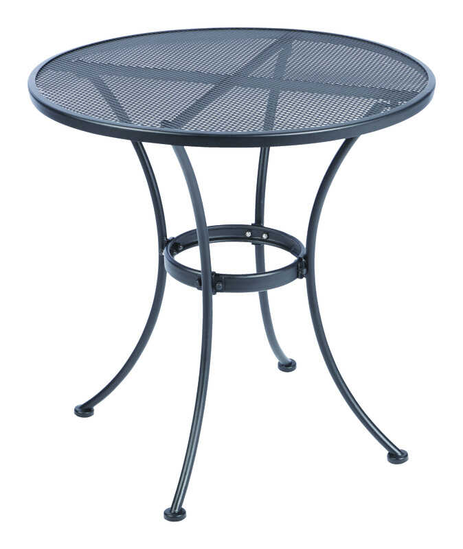 Living Accents Metropolitan Patio Furniture: Living Accents Black Winston Round Table