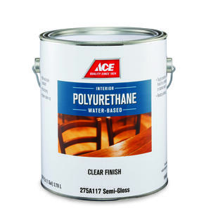 Ace  Semi-Gloss  Clear  Water-Based  Poly Finish  1 gal.
