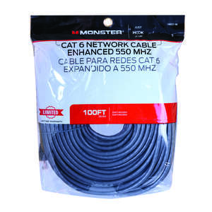 Monster Cable  Hook It Up  100 ft. L Category 6  Networking Cable