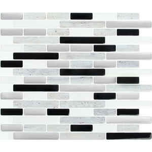 Peel and Impress  9.3 in. W x 11 in. L Adhesive Wall Tile  4 pc. Multiple Finish (Mosaic)  Vinyl