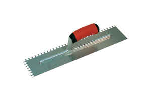 Marshalltown  4-1/2 in. W Steel  Trowel  Notched