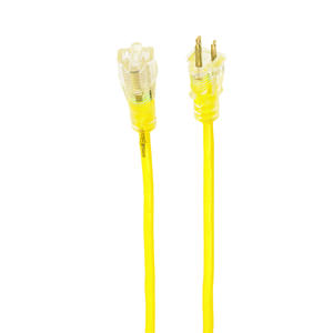 Yellow Jacket  Outdoor  100 ft. L Yellow  Extension Cord  14/3 SJTW