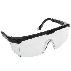 Regent Products Safety Glasses Clear Lens Black Frame
