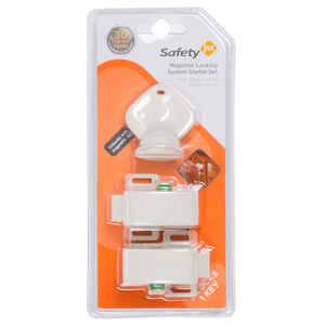 Safety 1st  White  Plastic  Magnetic Cabinet Locks  3 pc.