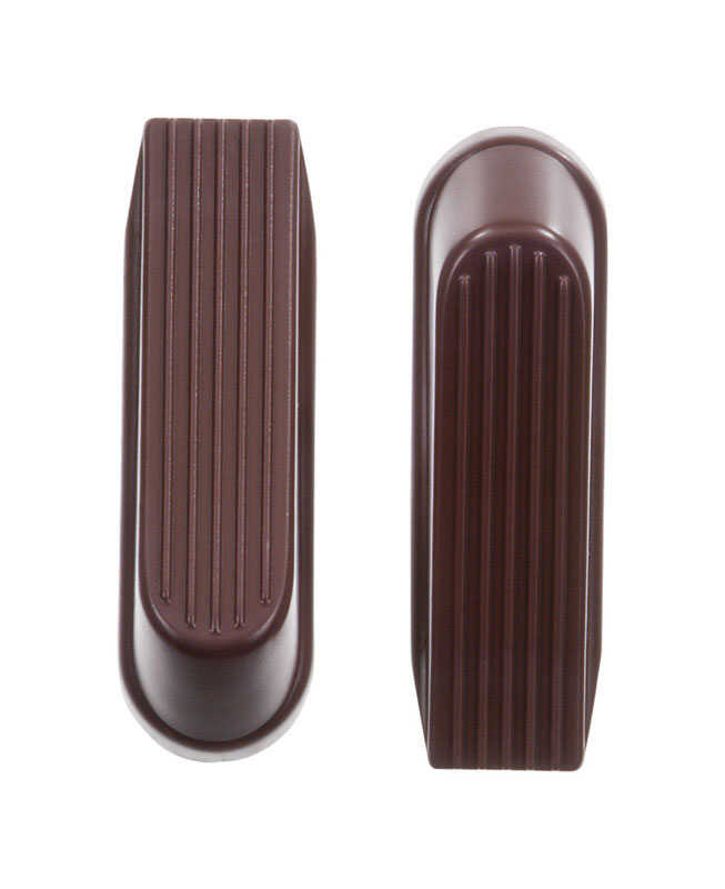 Ace  6.518 in. H x 4 in. W Rubber  Brown  Wedge Door Stop