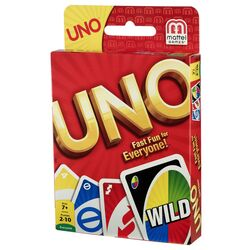 UNO  Card Game  Plastic  Multicolored
