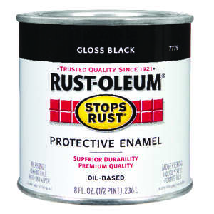 Rust-Oleum  Indoor and Outdoor  Gloss  Protective Enamel  Black  0.5 pt.