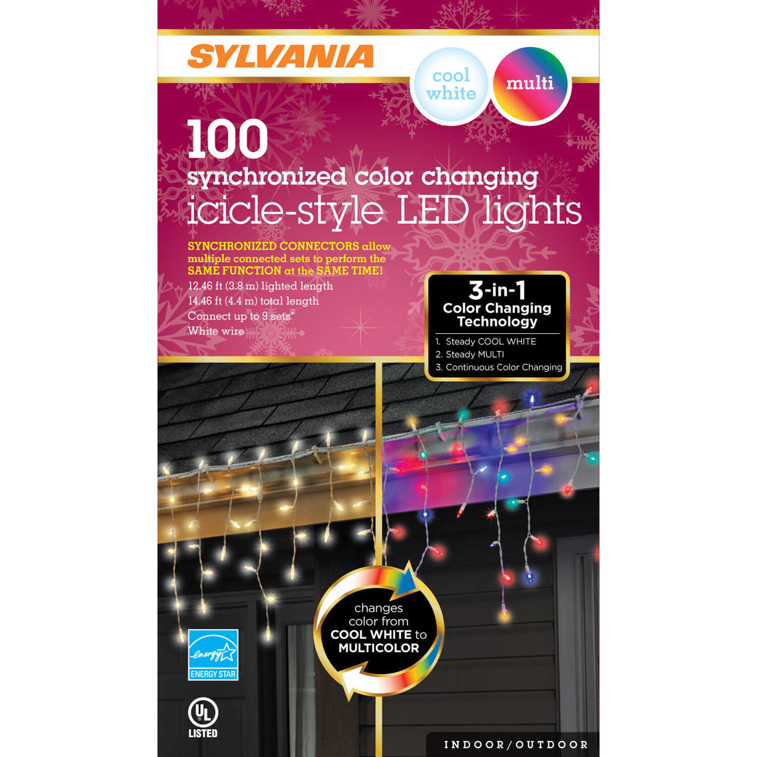 Sylvania  LED  Light Set  Color Changing  12.46 ft. 100 lights