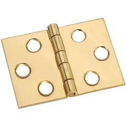 National Hardware  1-1/2 in. W x 2 in. L Brass  Desk Hinge  1 pk