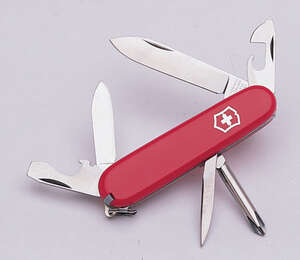 Victorinox Swiss Army  Tinker  Red  Stainless Steel  3.5 in. Pocket Knife