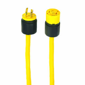 Yellow Jacket  10/4 SJEOW  125 volt 25 ft. L Generator Cord