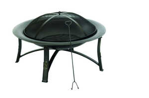 Living Accents  Ember  Wood  Fire Pit  19.5 in. H x 35 in. D x 35 in. W Steel