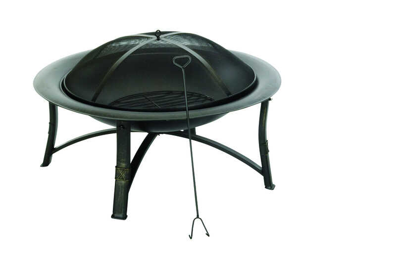 Living Accents Ember Wood Fire Pit 19.5 in. H x 35 in. W x - Living Accents Ember Wood Fire Pit 19.5 In. H X 35 In. W X 35 In. D