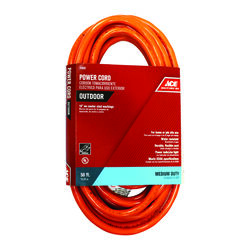 Ace Indoor or Outdoor 50 ft. L Orange Extension Cord 14/3 SJTW