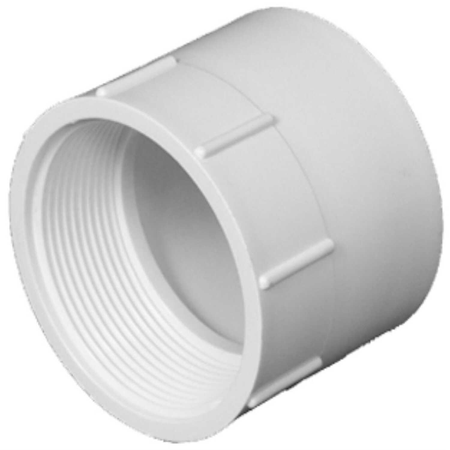 Charlotte Pipe  Schedule 40  4 in. Hub   x 4 in. Dia. x FPT   PVC  Adapter