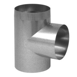 Imperial Manufacturing 3 in. x 3 in. x 3 in. Galvanized Steel Furnace Pipe Tee