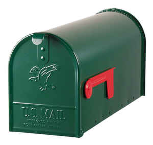 Gibraltar  Elite  Galvanized Steel  Post Mounted  Hartford Green  Mailbox  8-3/4 in. H x 6-7/8 in. W