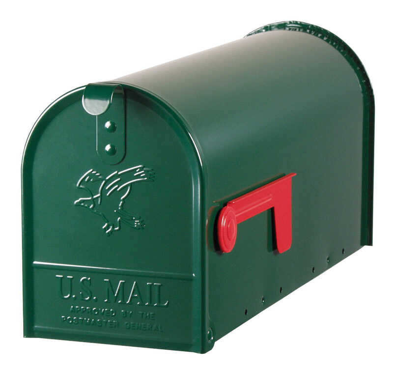 Gibraltar Mailboxes  Galvanized Steel  Elite  Hartford Green  Post Mounted  8-3/4 in. H x 20 in. L x