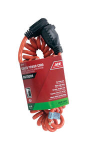 Ace  Indoor and Outdoor  3 to 10 ft. L Orange  Extension Cord  16/3 SJTW