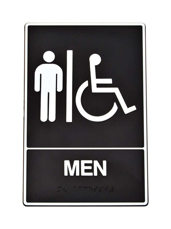 Hy-Ko English Black Informational Braille Sign 9 in. H x 6 in. W