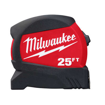 Milwaukee  25 ft. L x 1-1/8 in. W Compact Wide Blade  Tape Measure  1 pk