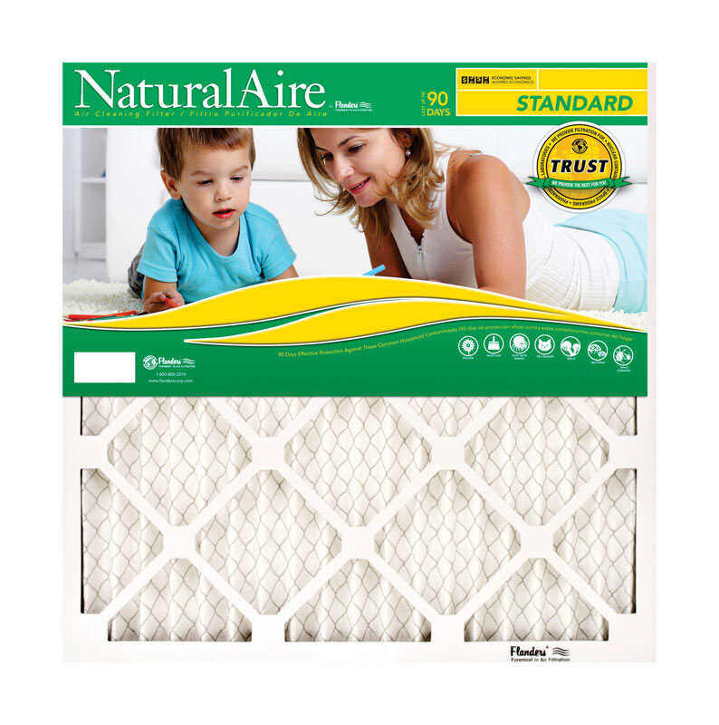 AAF Flanders  NaturalAire  12 in. W x 20 in. H x 1 in. D Polyester  8 MERV Pleated Air Filter