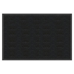 Multy Home Platinum 36 in. L x 24 in. W Charcoal Indoor Polyester/Vinyl Nonslip Utility Mat