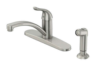 OakBrook  Pacifica  One Handle  Brushed Nickel  Kitchen Faucet  Side Sprayer Included