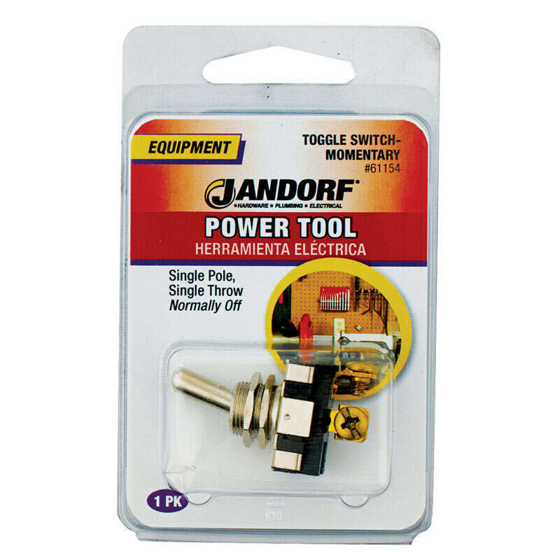 Jandorf  Single Pole  Power Tool Switch  1  Silver  Toggle  15 amps