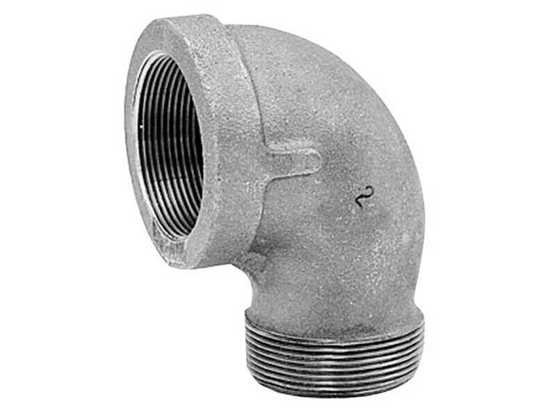 Anvil  1/4 in. FPT   x 1/4 in. Dia. MPT  Galvanized  Malleable Iron  Street Elbow