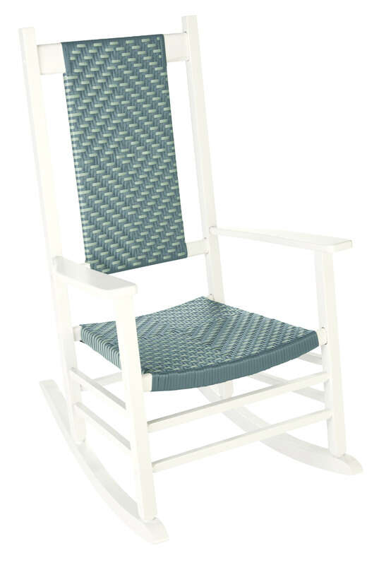 Jack-Post  Classic  1 pc. White  Wood Frame Knollwood  Rocking Chair