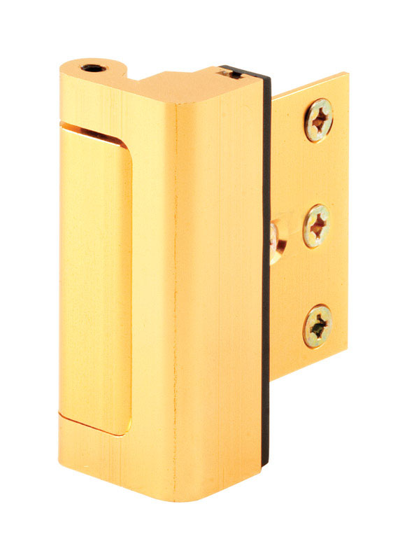 Prime-Line  Bright Brass  Aluminum  Jamb mount Entry Door Blocker  1 pk