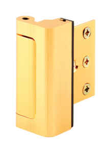 Prime-Line  Bright Brass  Aluminum  Entry Door Blocker  1 pk