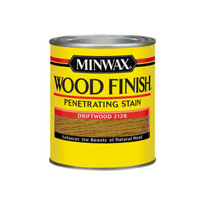 Minwax  Wood Finish  Semi-Transparent  Driftwood  Oil-Based  Oil  Stain  1 qt.
